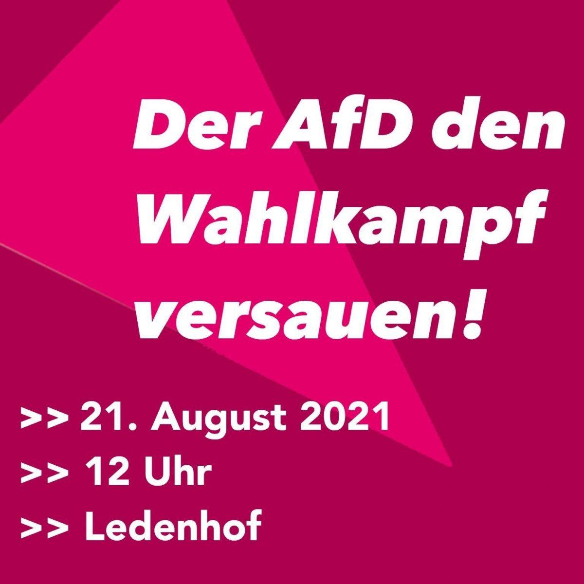 ALERTA! AfD-Veranstaltung am kommenden Samstag in Osnabrück!