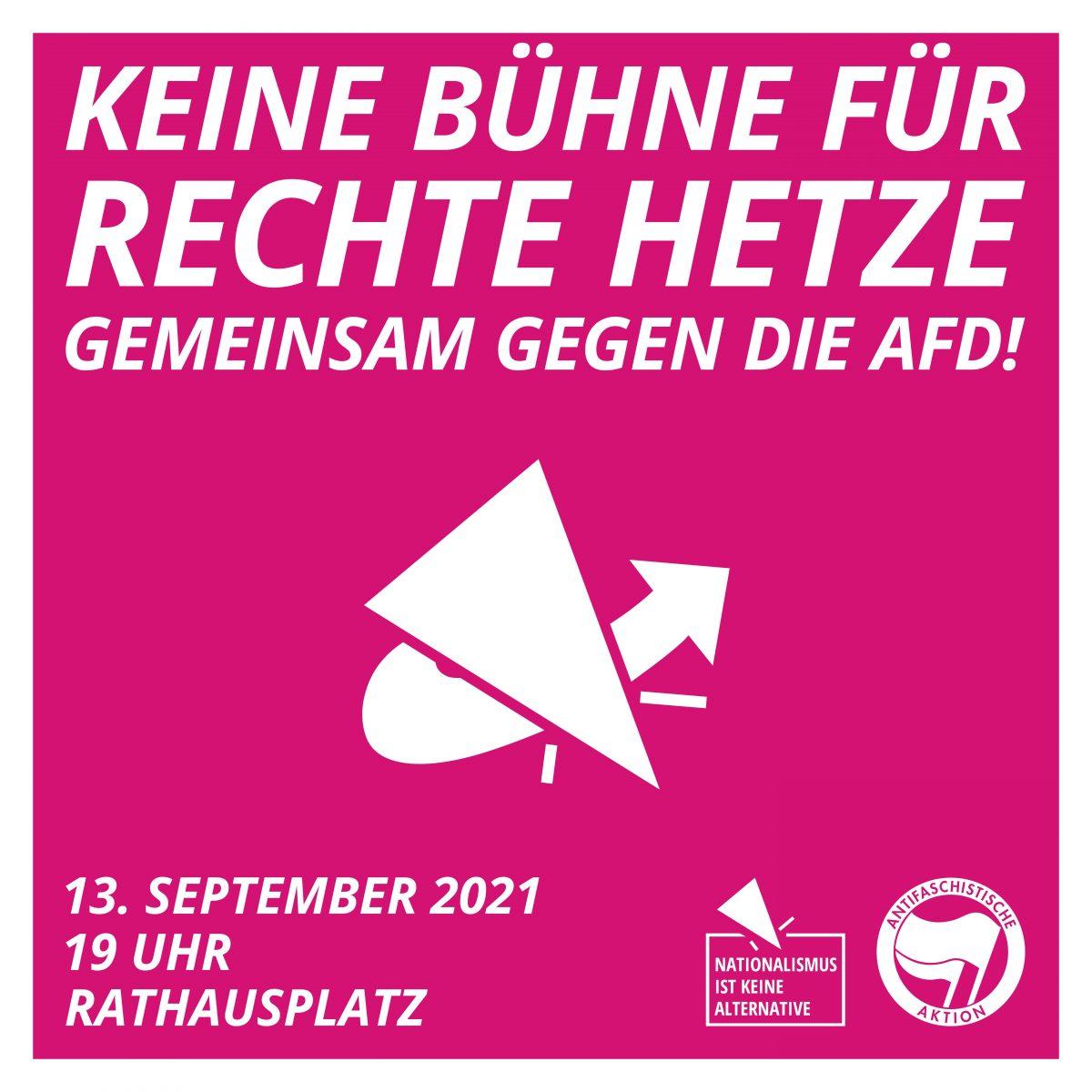 Keine Bühne für rechte Hetze – gemeinsam gegen die AfD!